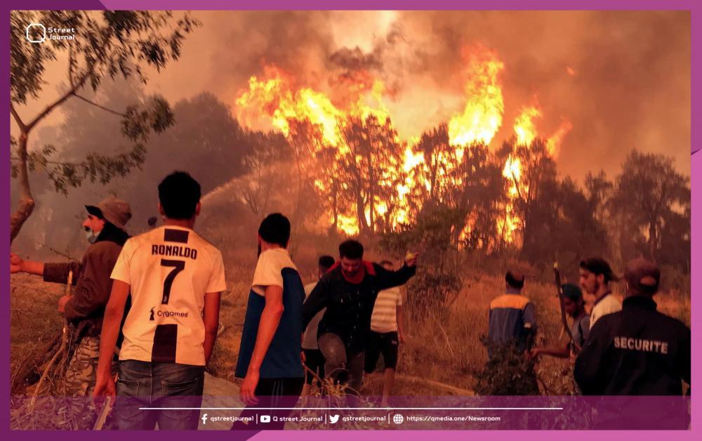 حرائق الجزائر تودي بحياة 99 شخصاً.. توقعات بارتفاع درجات الحرارة!