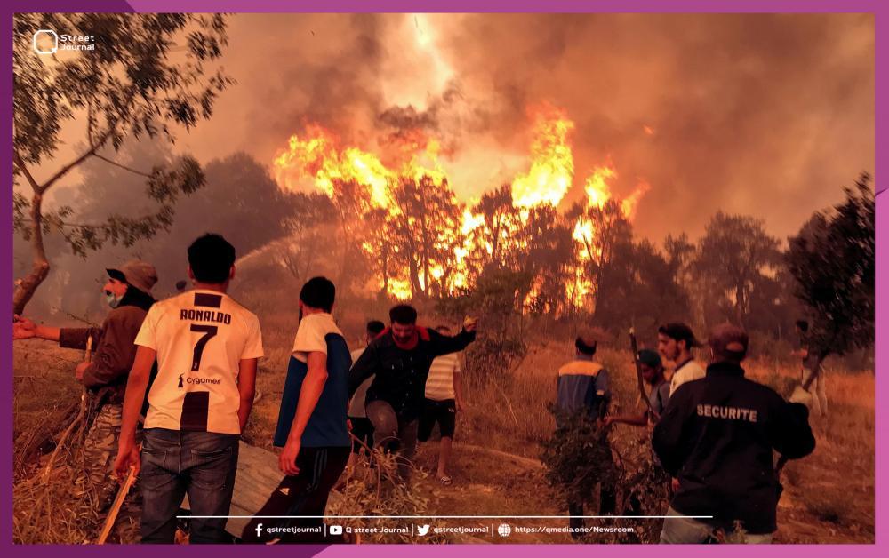 الجزائر تتهم المغرب وإسرائيل بإشعال الحرائق