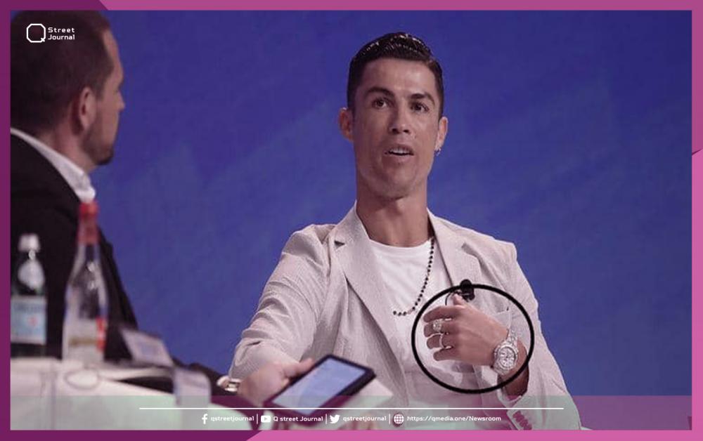 """رونالدو يرتدي """"ثروة"""" في يده اليسرى"""