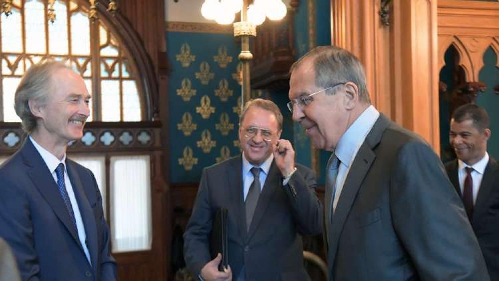 بيدرسن ولافروف: الإسراع بعمل اللجنة الدستورية السورية