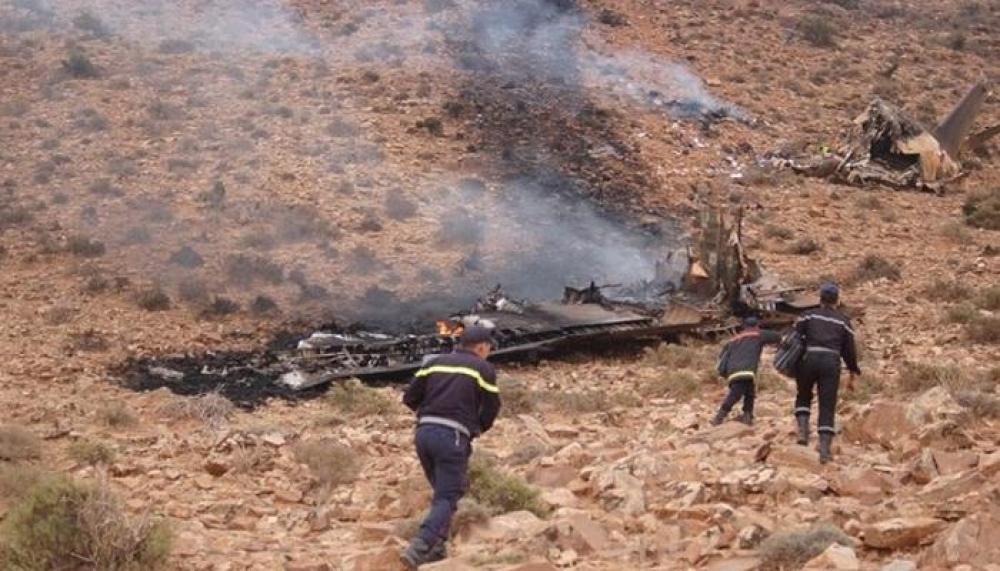 تحطم طائرة عسكرية مغربية