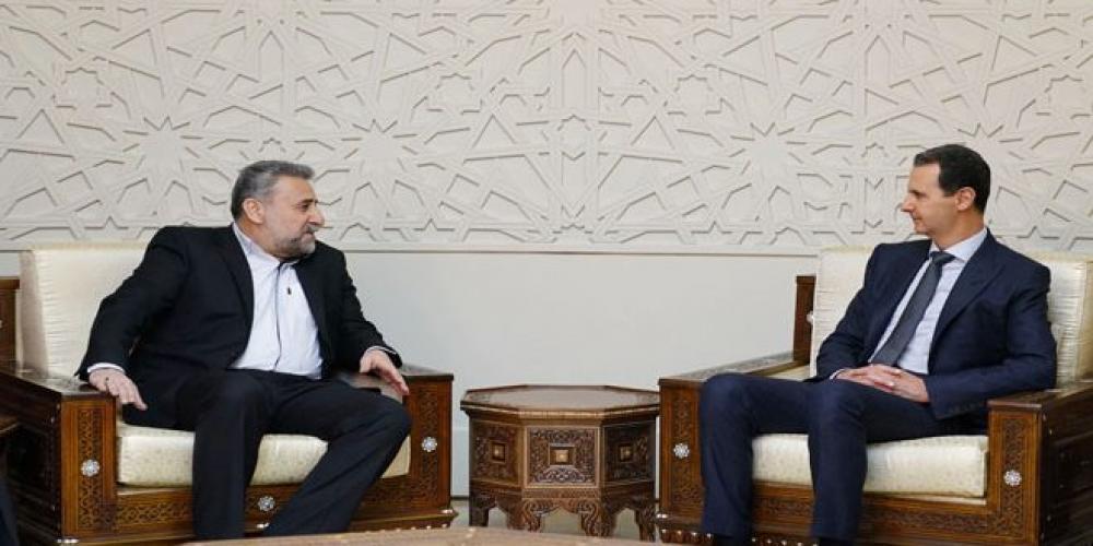 الأسد يستقبل رئيس لجنة الأمن القومي الإيراني