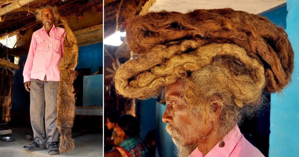 بأمر من الله لم يغسل شعره منذ 40 عاماً!