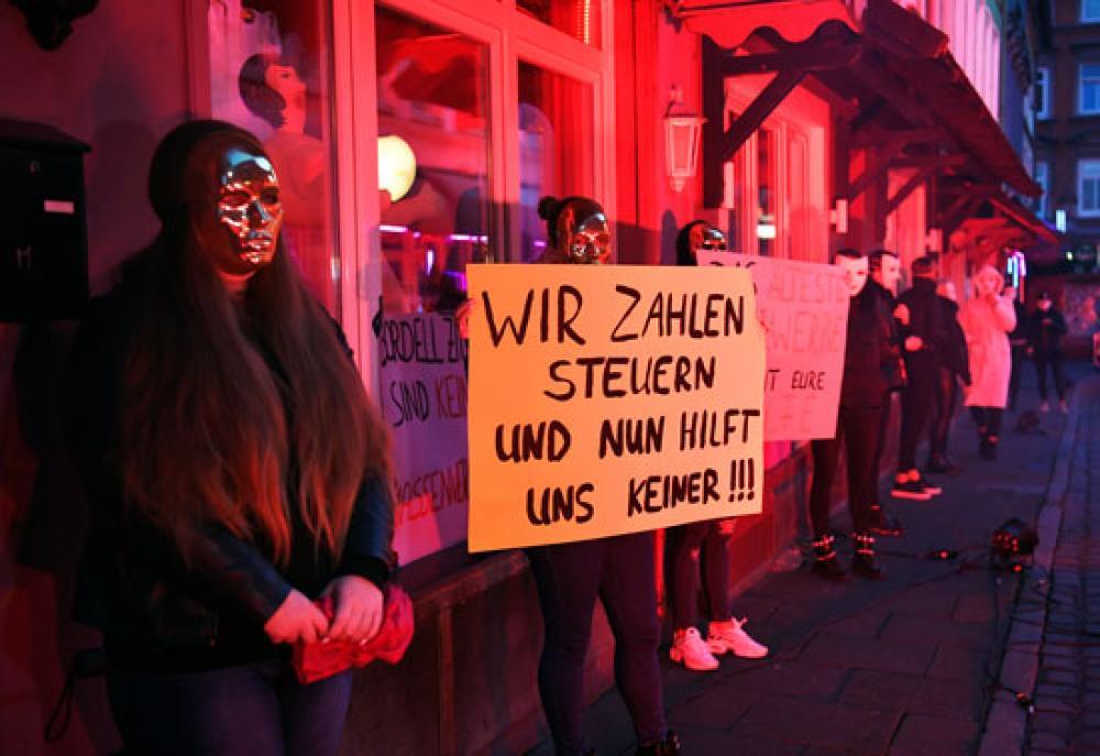 مظاهرات في ألمانيا لإعادة فتح بيوت الدعارة