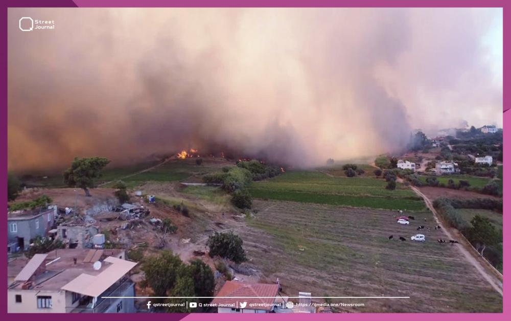 عشرات الإصابات بحريق ضخم في تركيا