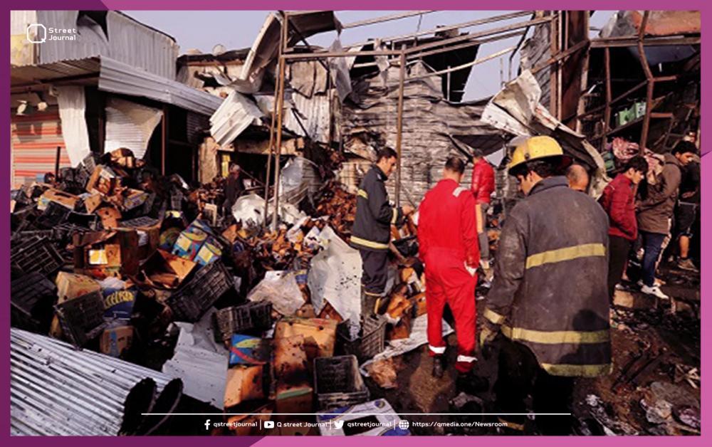 تفجير داخل سوق شعبي في بغداد