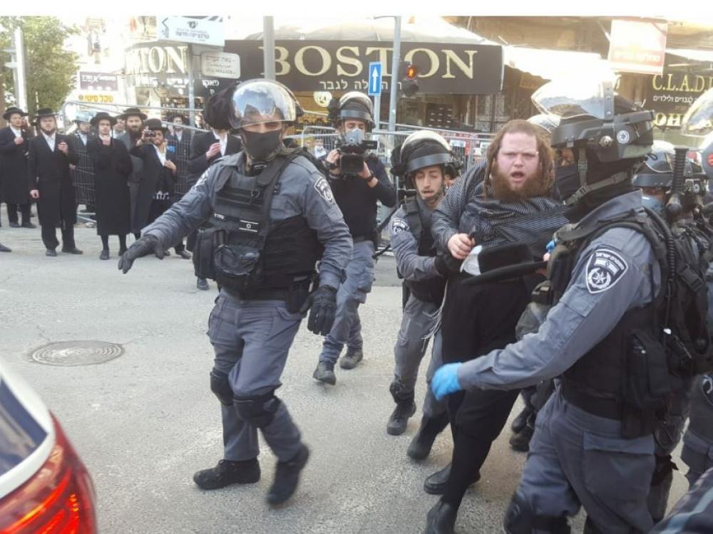 شرطة الاحتلال تشتبك مع يهود متشددين بسبب قيود كورونا
