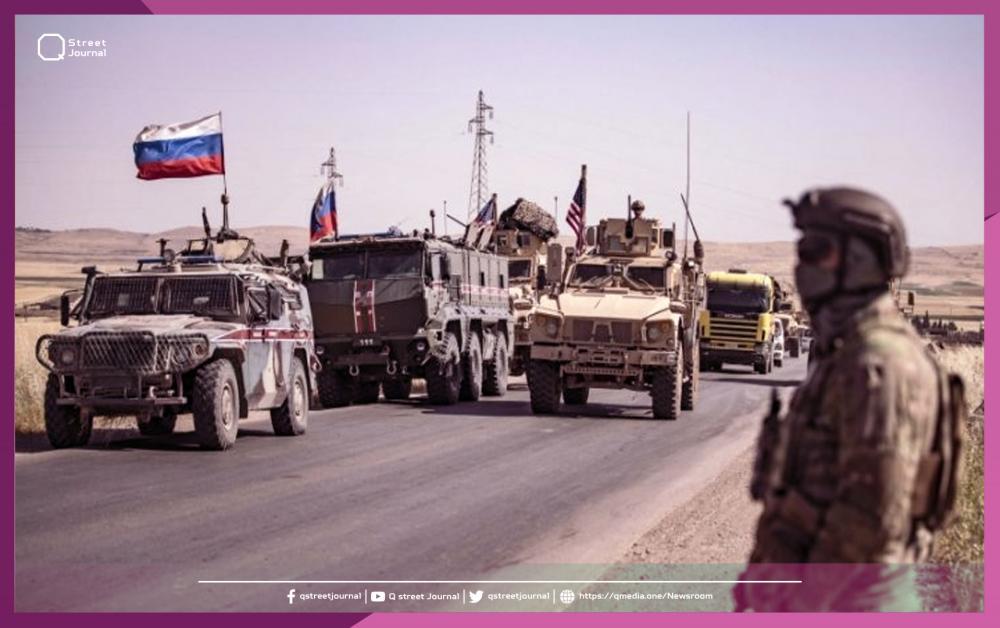القوات الروسية توقف قافلة أمريكية شمال سوريا