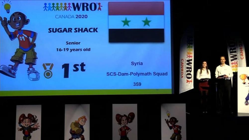 «سوريا» تحقق المركز الأول في مسابقة ب«كندا»