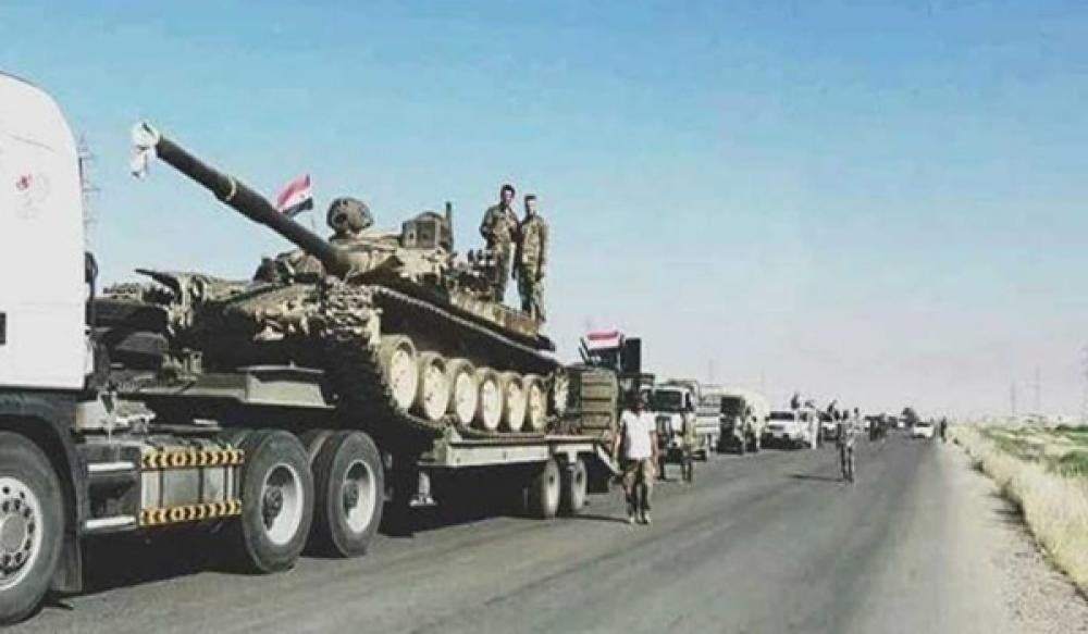 أرتال جديدة للجيش السوري تدخل ريفي الرقة والحسكة
