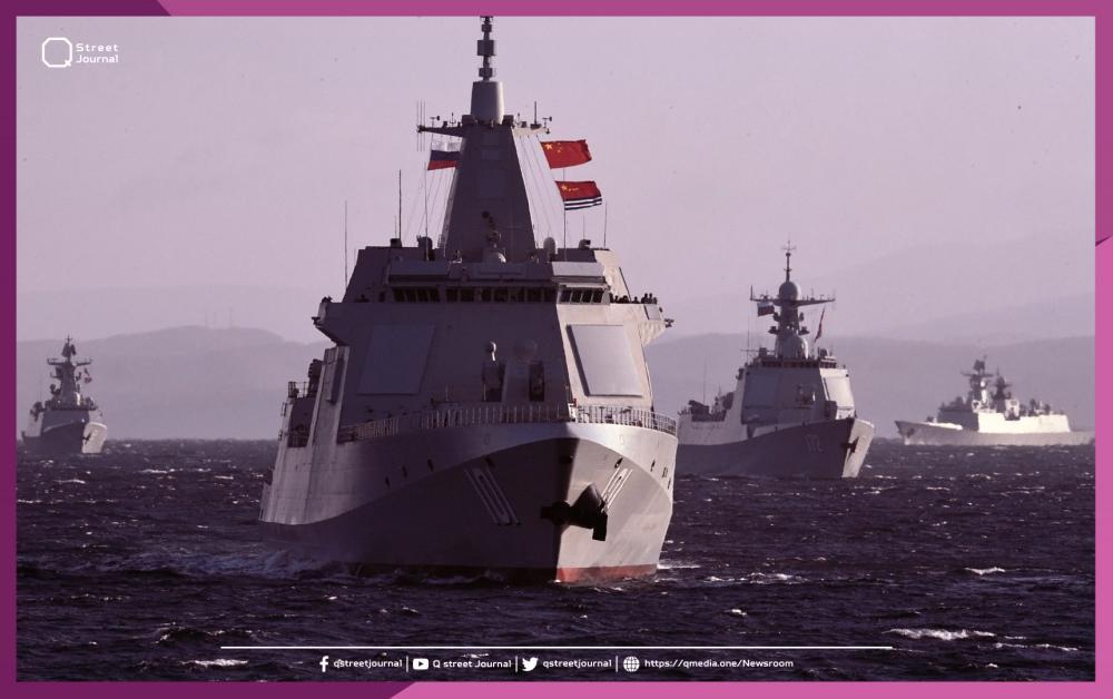 مناورات بحرية روسية صينية
