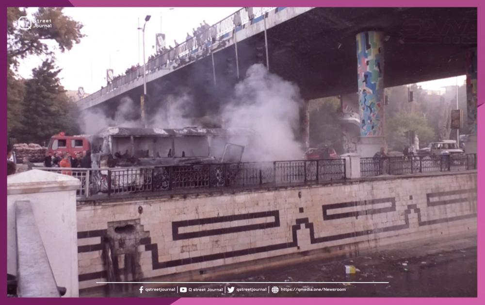 تفجير عبوتين ناسفتين بحافلة مبيت في دمشق